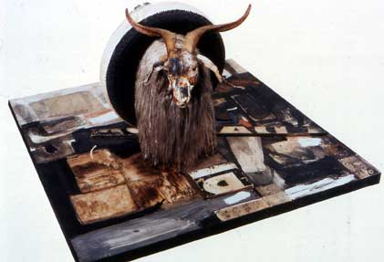 Robert Rauschenberg  Monogram  1955-59  o col on canvas  with stuffed    Robert Rauschenberg Monogram 1955 59