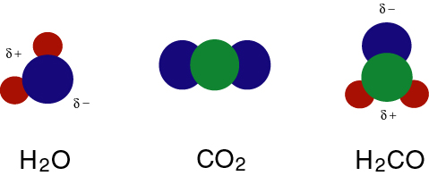 CO2  and H2CO molecules   H2co Molecular Geometry