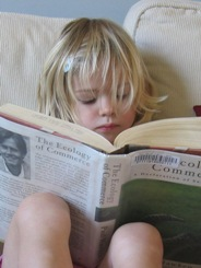 Courses Page Image of Girl with Book