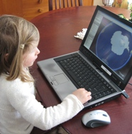 Resources Page Image of Girl on Computer