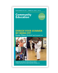 Printed Community Education Schedule Cover