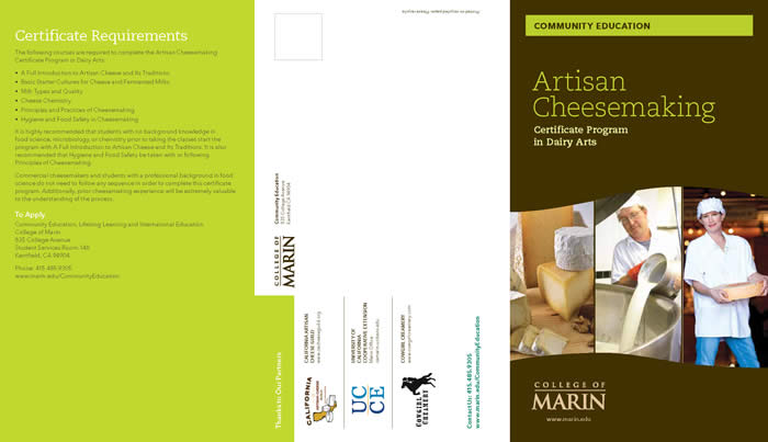Cheese Brochure Page 1