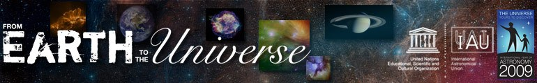 From Earth to the Universe, exhibit banner