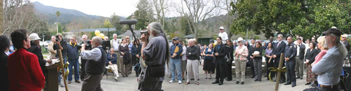 Picture of the Groundbreaking Ceremony, PE facilities Kentfield Campus, College of Marin
