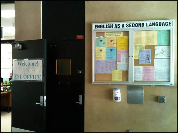 Entrance to ESL Office